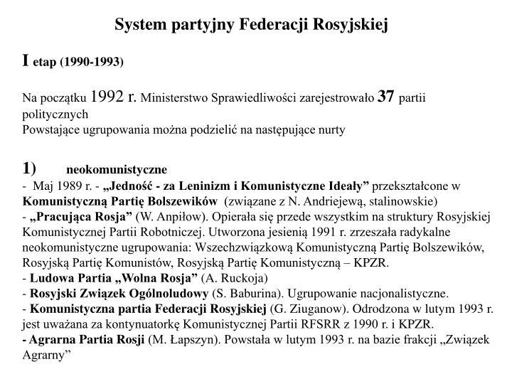 System partyjny Federacji Rosyjskiej