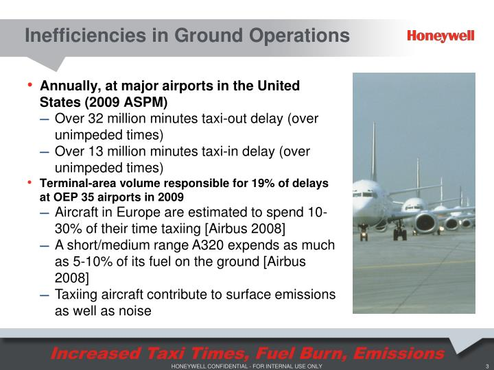Inefficiencies in Ground Operations