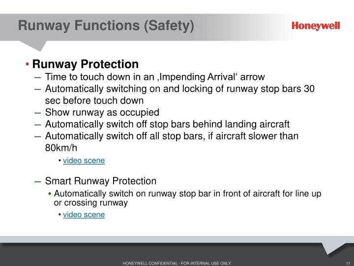 Runway Functions (Safety)