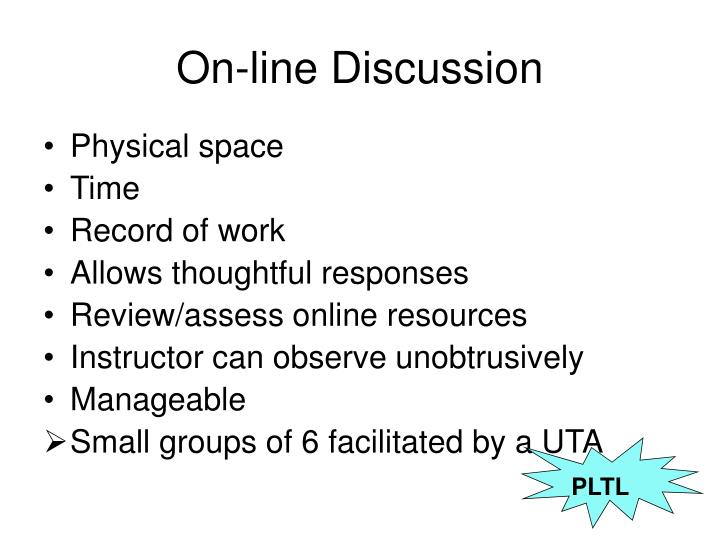 On-line Discussion