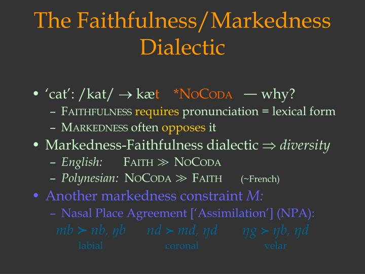 The Faithfulness/Markedness Dialectic