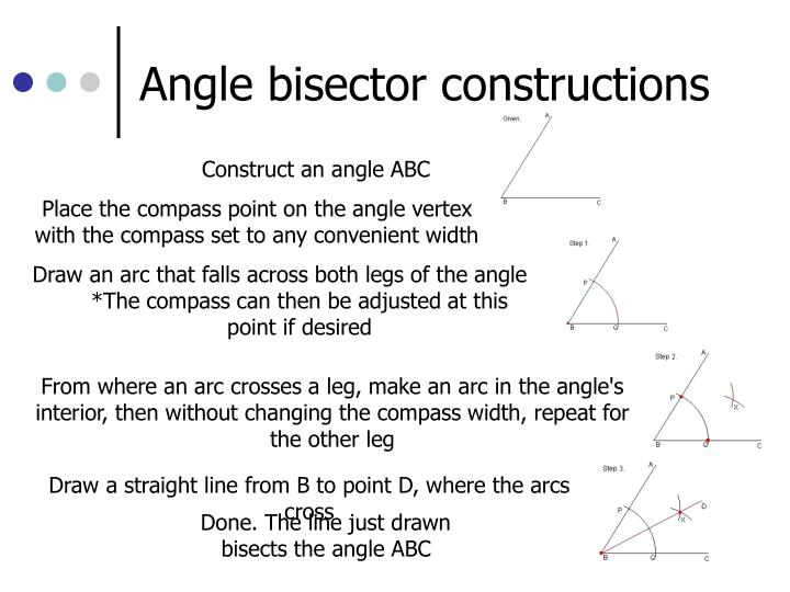 Angle bisector constructions