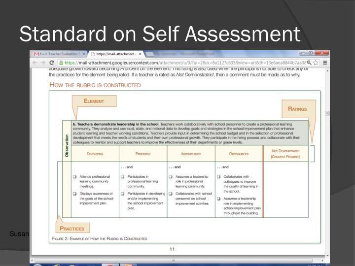 Standard on Self Assessment
