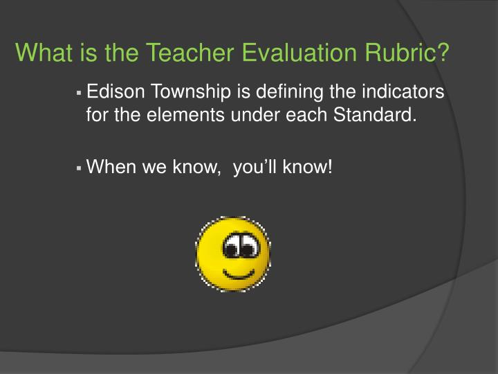 What is the Teacher Evaluation Rubric?