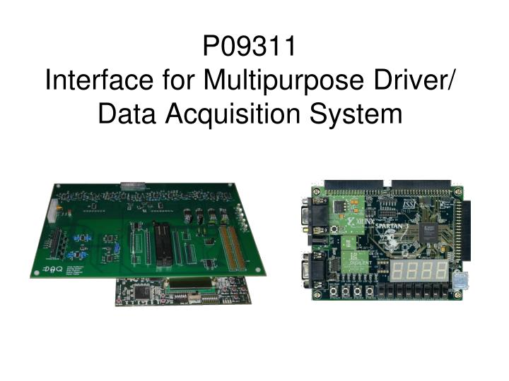 P09311 interface for multipurpose driver data acquisition system
