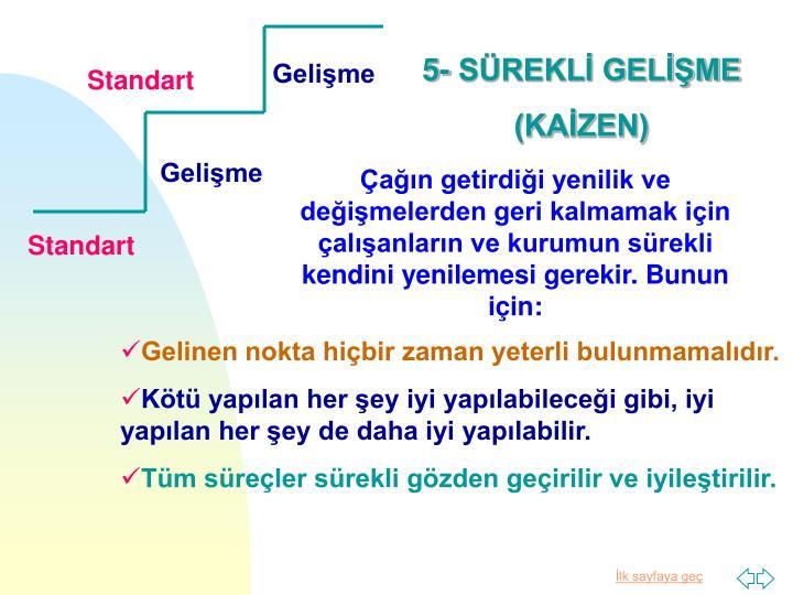 5- SÜREKLİ GELİŞME