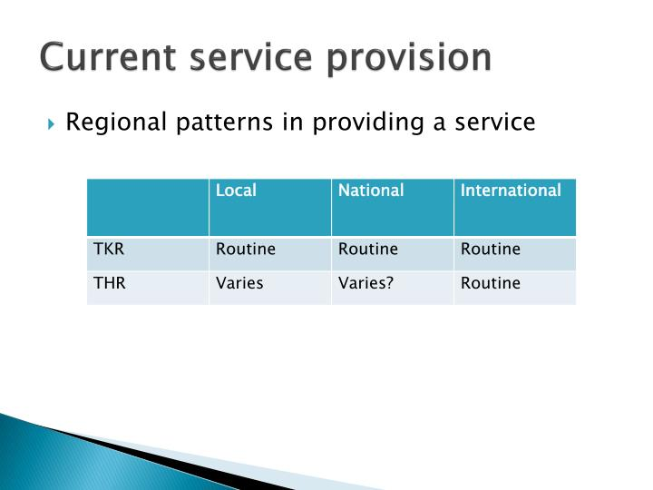 Current service provision