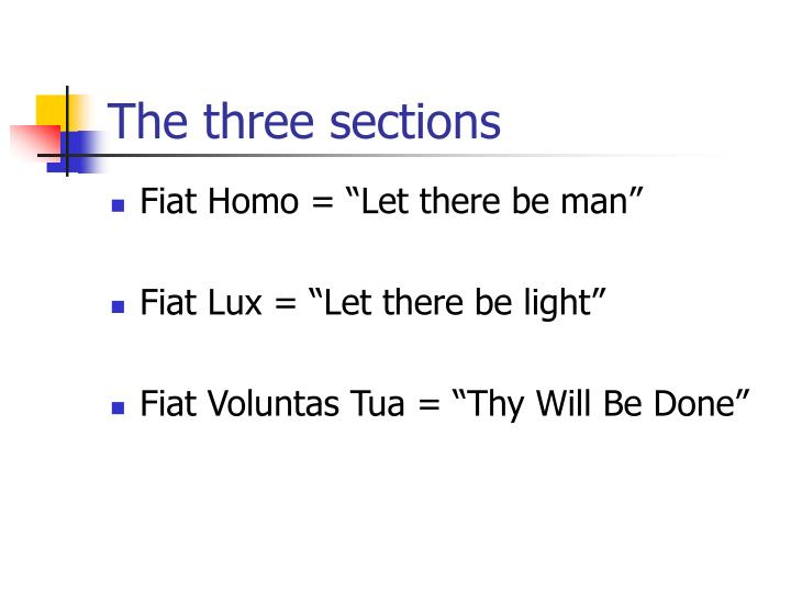 The three sections