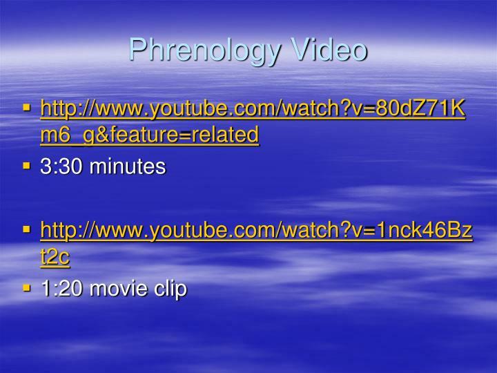 Phrenology Video