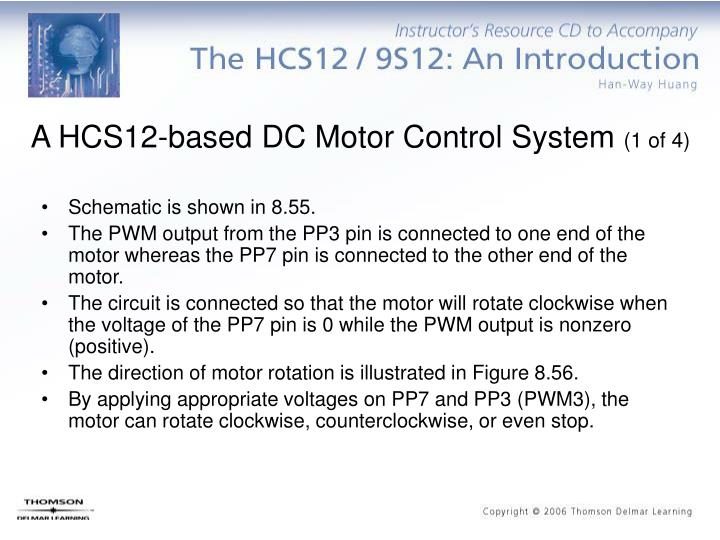 A HCS12-based DC Motor Control System