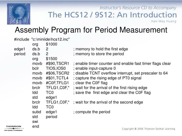 Assembly Program for Period Measurement