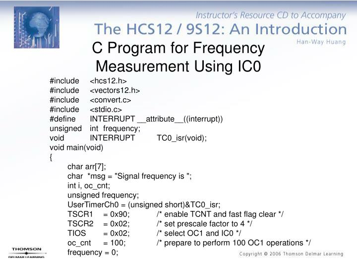 C Program for Frequency