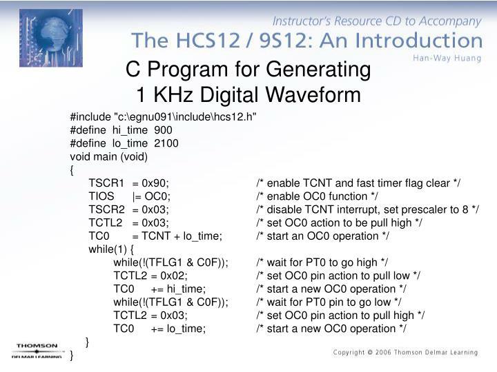 C Program for Generating