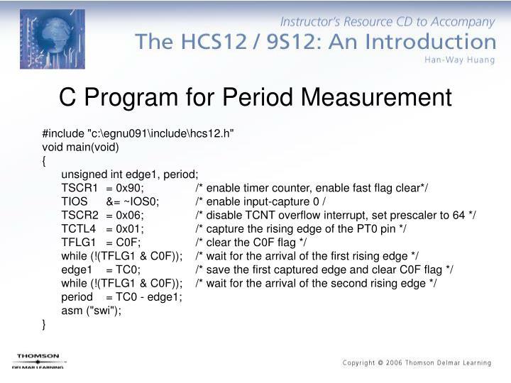 C Program for Period Measurement