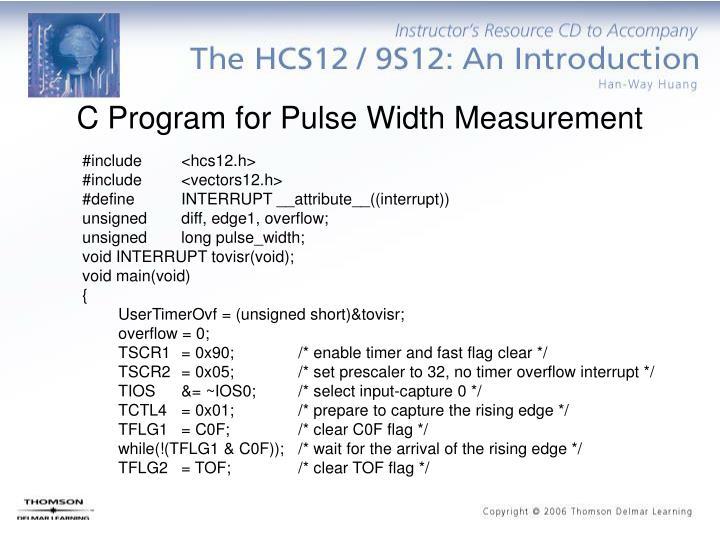 C Program for Pulse Width Measurement