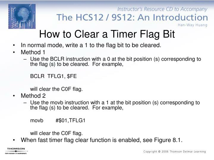 How to Clear a Timer Flag Bit