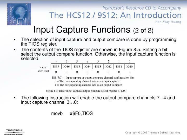 Input Capture Functions