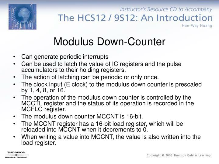 Modulus Down-Counter
