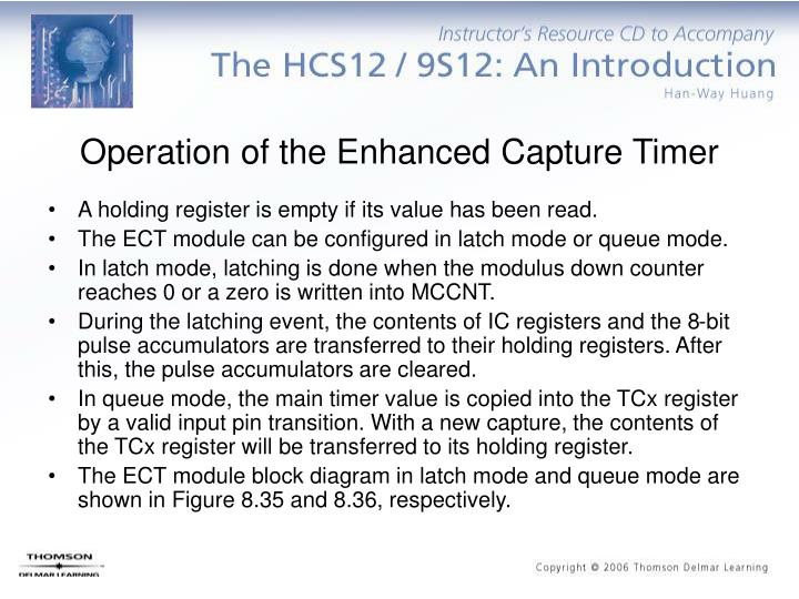 Operation of the Enhanced Capture Timer