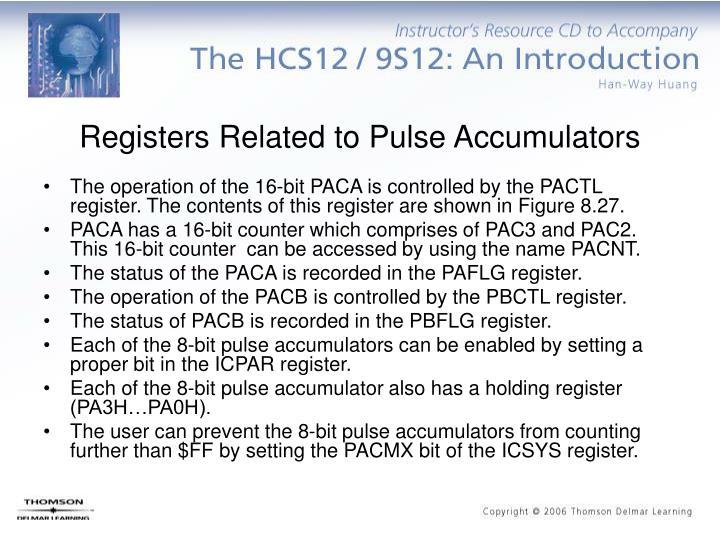 Registers Related to Pulse Accumulators