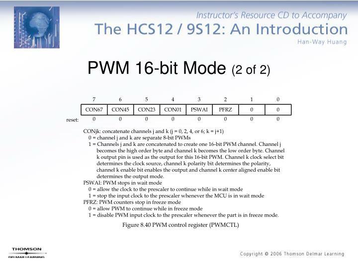 PWM 16-bit Mode