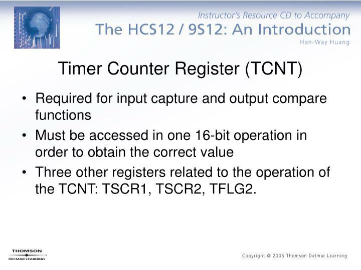 Timer Counter Register (TCNT)