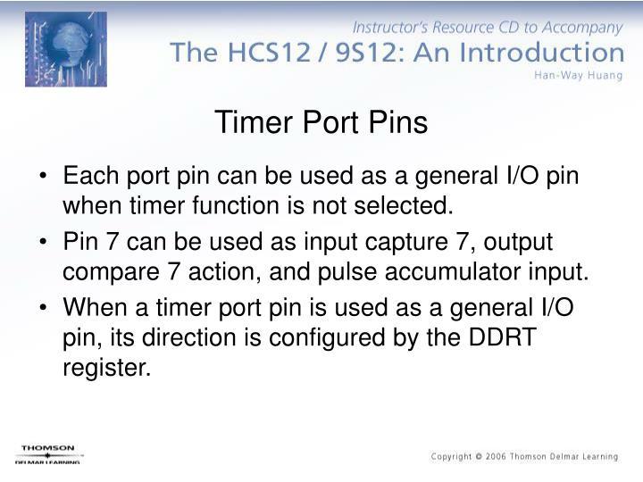 Timer Port Pins