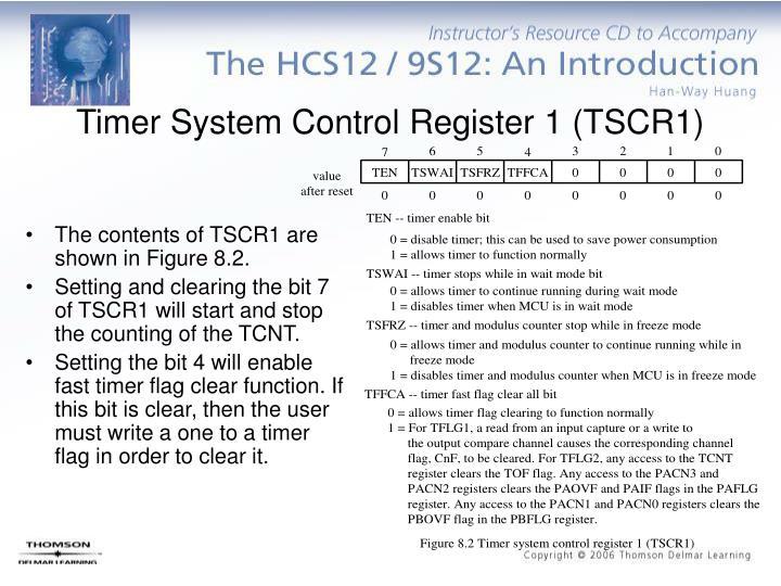 Timer System Control Register 1 (TSCR1)