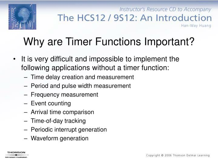 Why are Timer Functions Important?