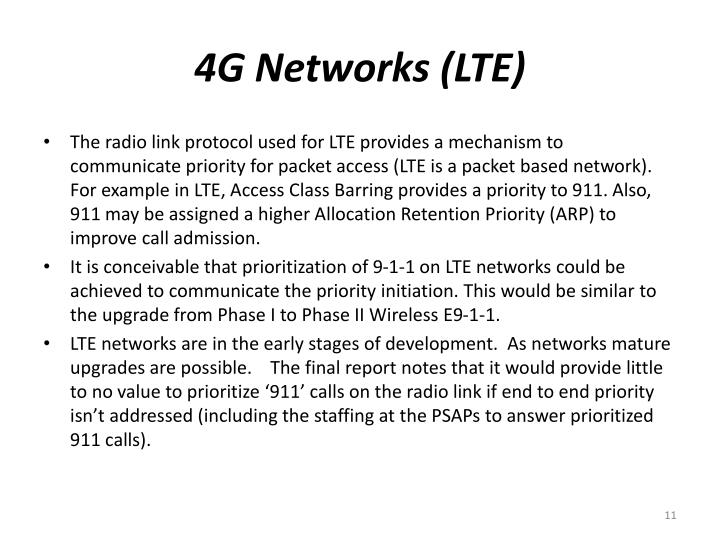 4G Networks (LTE)