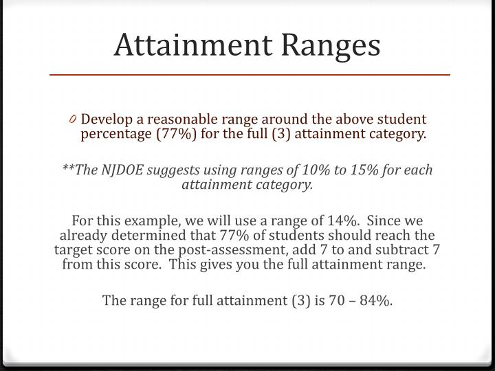 Attainment Ranges