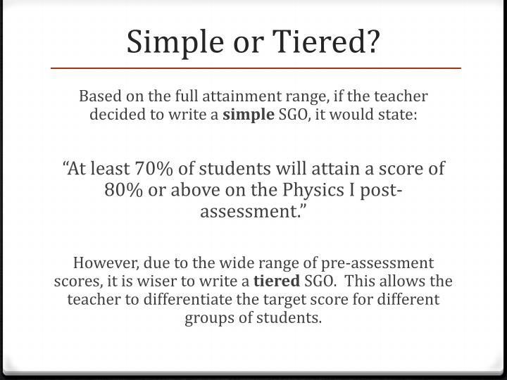 Simple or Tiered?