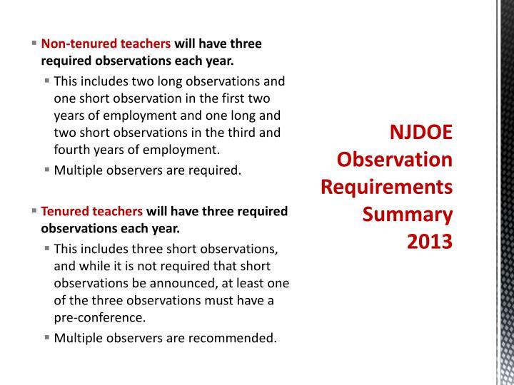 Non-tenured teachers