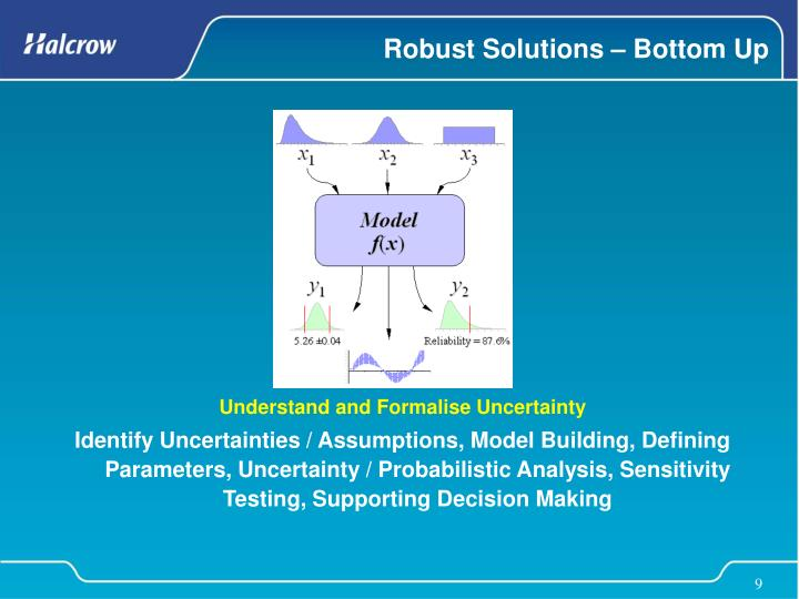 Robust Solutions – Bottom Up