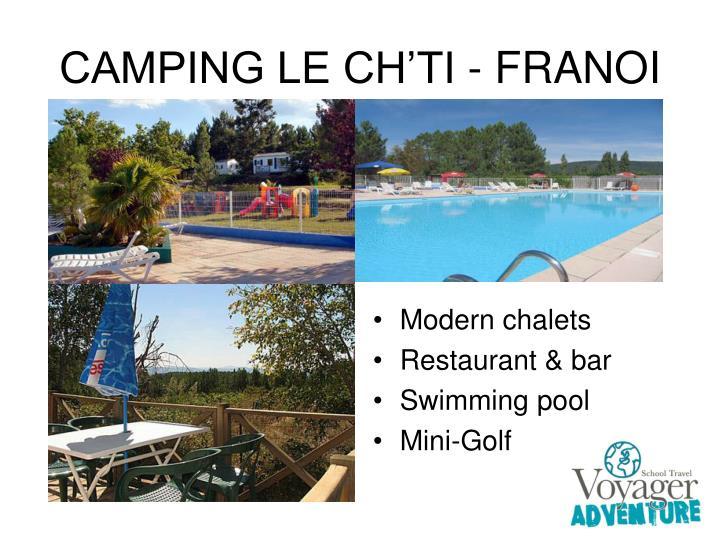 CAMPING LE CH'TI - FRANOI