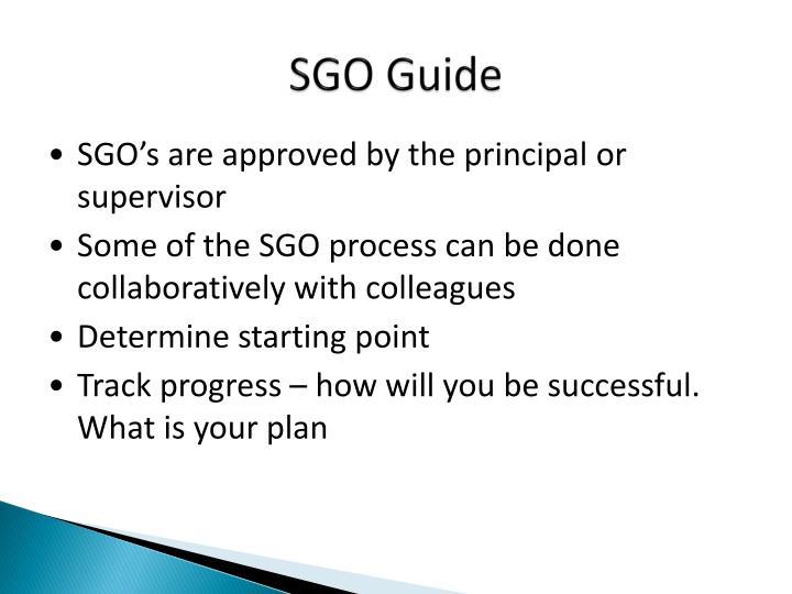 SGO Guide