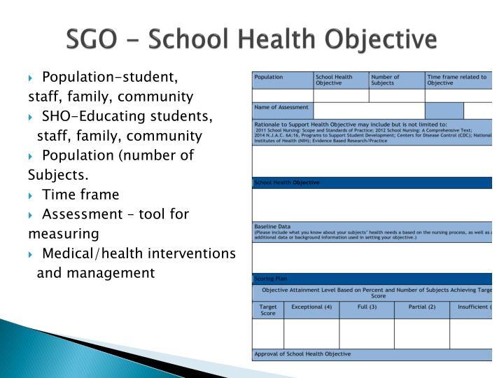 SGO - School Health Objective