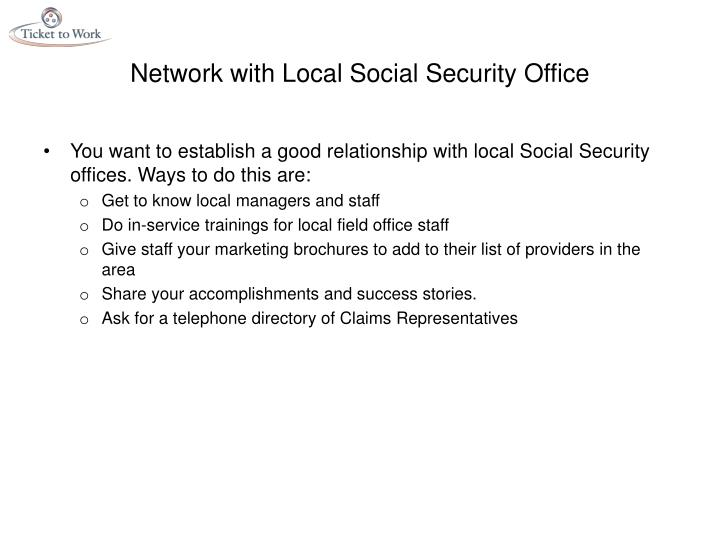 Network with Local Social Security Office