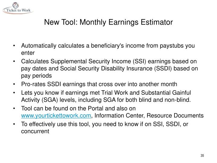 New Tool: Monthly Earnings Estimator