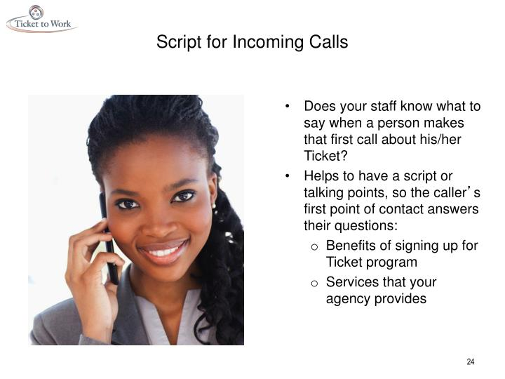 Script for Incoming Calls