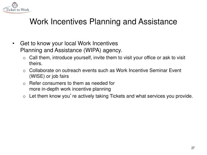 Work Incentives Planning and Assistance