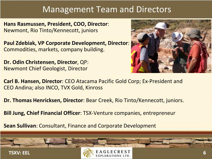 Management Team and Directors