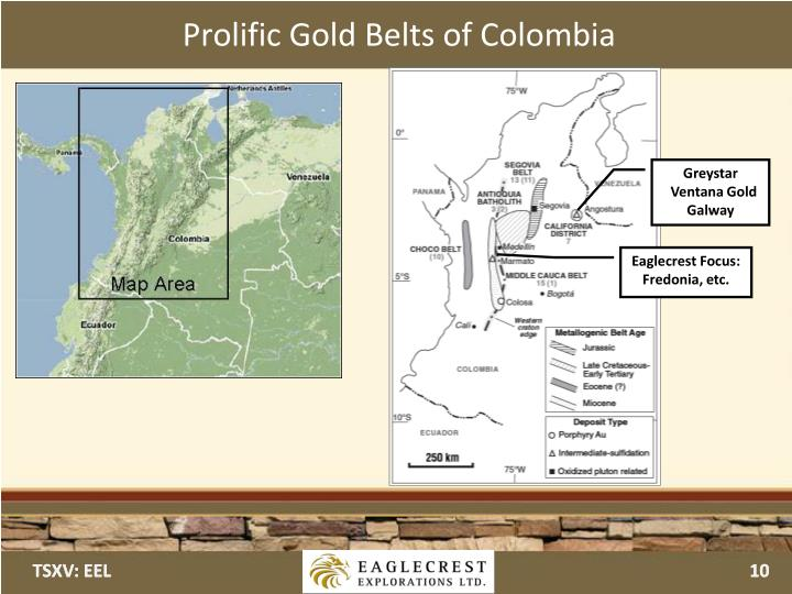Prolific Gold Belts of Colombia