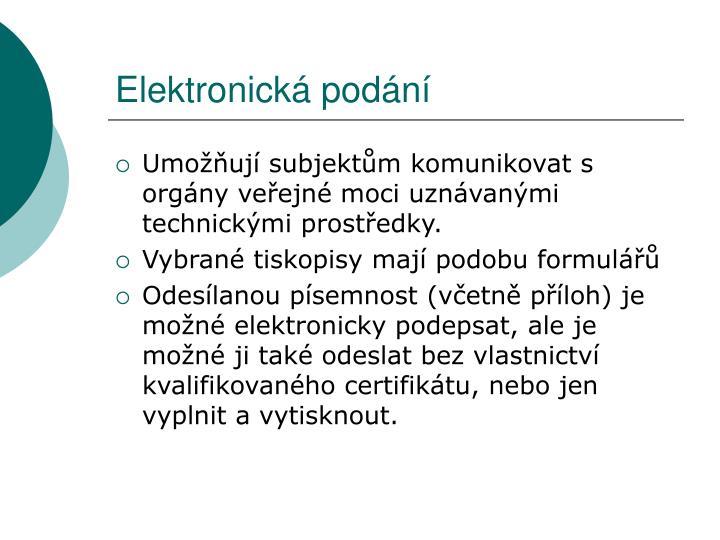 Elektronická podání
