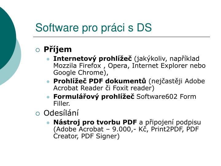 Software pro práci s DS