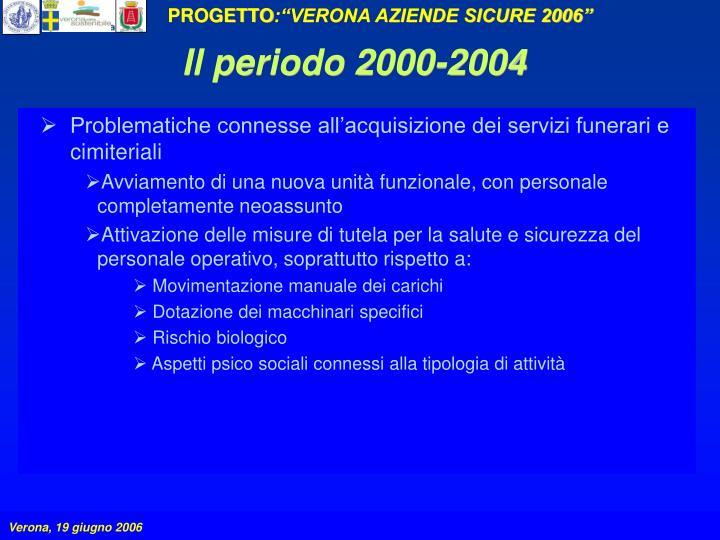 Il periodo 2000-2004