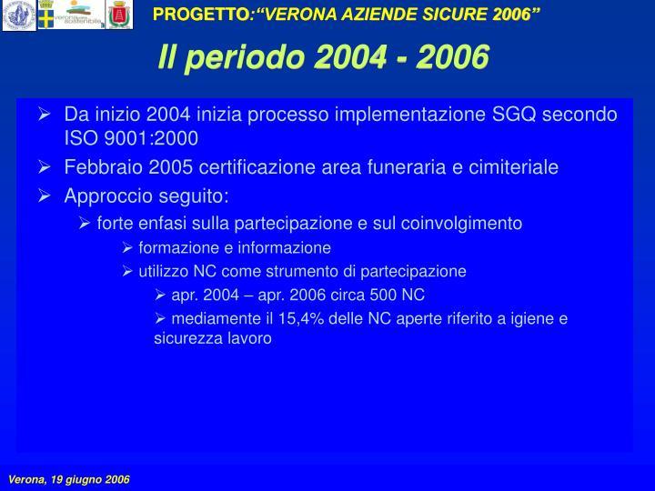 Il periodo 2004 - 2006
