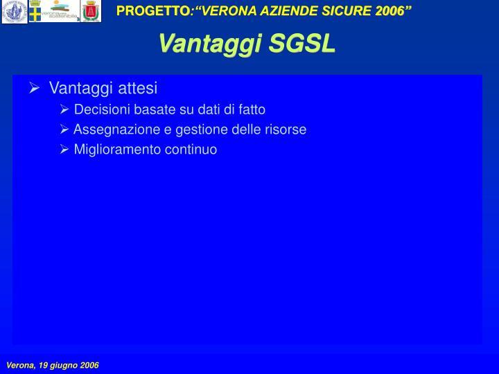 Vantaggi SGSL