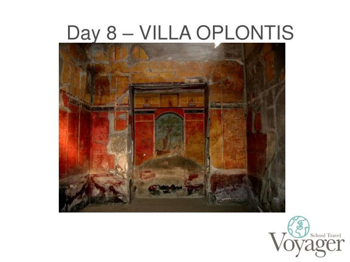 Day 8 – VILLA OPLONTIS
