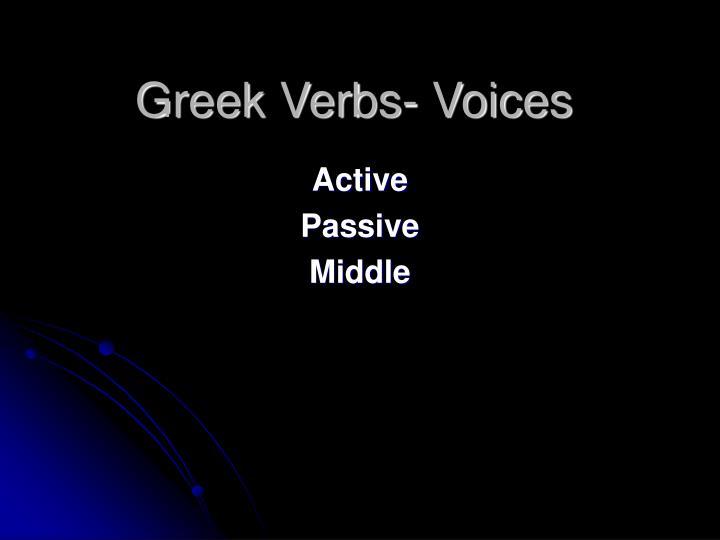 Greek Verbs- Voices